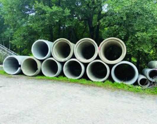 Concrete seconds pipes and rings